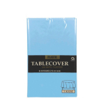 Powder Blue Round Tablecover  - Plastic-12 PC