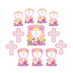 Communion Pack Pink Cutouts - 9 PKG/12