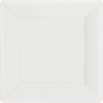 Frosty White Square Paper Plates 25cm - 6 PKG/20
