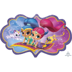 Shimmer & Shine SuperShape Foil Balloons - 5 PC