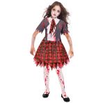 Zombie School Girl Costume - Age 5-6 Years - 1 PC
