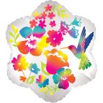 Watercolour Flowers Satin Junior Shape Foil Balloons S50 - 5 PC