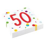 Confetti Birthday 50th Birthday Luncheon Napkins 33cm - 10 PKG/20