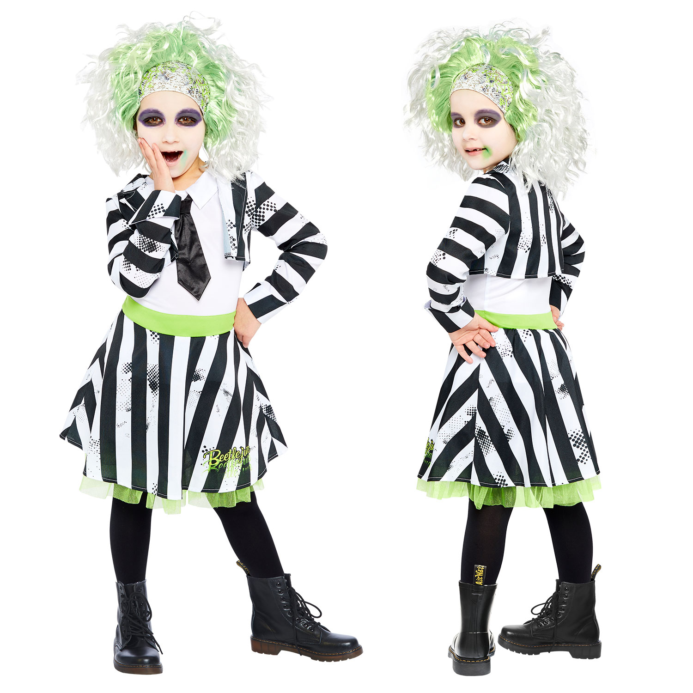 Beetlejuice Costume Girls Age 6 8 Years 1 Pc Amscan International