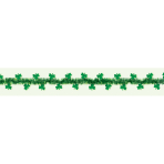 Green Tinsel Garlands with Shamrocks 4.5m - 6 PC