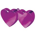 Magenta Double Heart Balloon Weights 170g/6oz - 12 PC