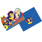 DC Super Hero Girls Invitations & Envelopes - 6 PKG/8