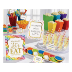 Rainbow Buffet Decorating Kits - 6 PC