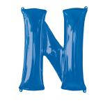 """Letter N Blue SuperShape Foil Balloons 34""""/""""86cm P50 - 5 PC"""