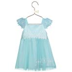 Baby Elsa Aqua Lace Smock Dress - Age 3-6 Months - 1 PC