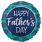 Father's Day Checks Standard Foil Balloons S40 - 5 PC