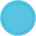 Caribbean Blue Paper Plates 17.7cm - 12 PKG/8