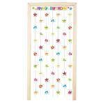 Birthday Flower Cascade Foil Door Curtains 2m - 12 PKG