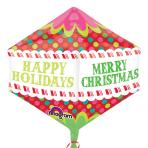 "Anglez Christmas Colourful Dots Foil Balloons 17""/43cm w x 21""/53cm h G20 - 5 PC"