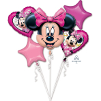 Minnie Happy Helper Foil Balloon Bouquets P75 - 3 PC