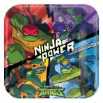 Rise of the Teenage Mutant Ninja Turtles Square Paper Plates 23cm - 6 PKG/8