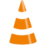 On the Road Party Cone Hats - 5 PKG/8