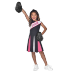 Cheerleader Girl Pink Costume - Age 4-6 Years - 1 PC