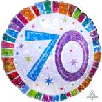 Radiant Birthday 70 Standard Foil Balloons S40 - 5 PC