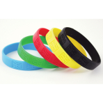Great Britain Rubber Bracelets  - Blue, green, red, yellow, black - 6 PKG/5