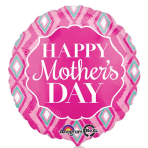 Happy Mother's Day Diamonds Standard Foil Balloons S40 - 5 PC