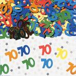 Number 70 Multi Colour Metallic Confetti 14g - 12 PC