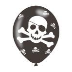"Pirates Latex Balloons 11""/27.5cm - 10PKG/6"
