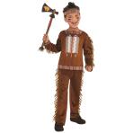 Native American Boy Costume - Age 6-8 Years - 1 PC