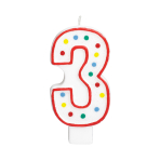 Giant Size Numeral Candles 13.3cm #3 - 12 PC