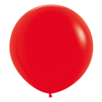 """Fashion Colour Solid Red 015 Latex Balloons 24""""/60cm - 3 PC"""