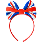 Red White & Blue GB Flag Bow Headbands - 10 PC