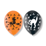 6 Halloween All Round Printed Latex Balloons - 6 PKG/6