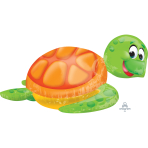 "Silly Sea Turtle SuperShape Foil Balloons 31""/78cm w x 20""/50cm h P40 - 5 PC"