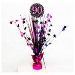 Pink Sparkling Celebration 90th Spray Centrepieces 45cm - 6 PC