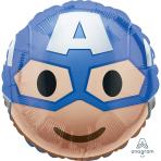 Captain America Emoji Standard HX Foil Balloons S60 - 5 PC
