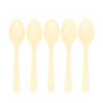 Vanilla Creme Plastic Spoons - 12 PKG/10