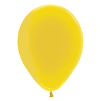 "Crystal Solid Yellow 320 Latex Balloons 5""/13cm - 100 PC"