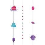 Cupcakes Balloon Fun Strings 1.82m - 6 PC