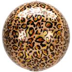 Animalz Leopard Print Orbz Foil Balloons G20 - 5 PC
