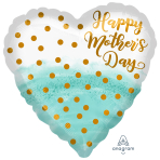 Happy Mother's Day Watercolour & Gold Standard XL Foil Balloons S40  5 PC