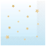 1st Birthday Blue Hot Stamped Luncheon Napkins 33cm - 12 PKG/16