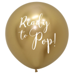 "Reflex Ready to Pop Gold 970 Latex Balloons 24""/60cm - 1 PC"