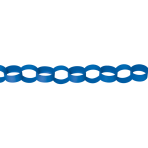 Bright Royal Blue Paper Chains Link Garlands 3.9m - 6 PC