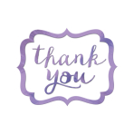 Lilac Thank You Stickers - 12 PKG/50