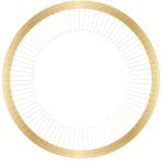 Ready To Pop White & Gold Foil Edged Paper Plates 23cm - 6 PKG/8