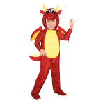 Red Dragon Costume - Age 4-6 Years - 1 PC