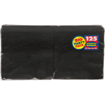 Jet Black luncheon Napkins 33cm - 6 PKG/125