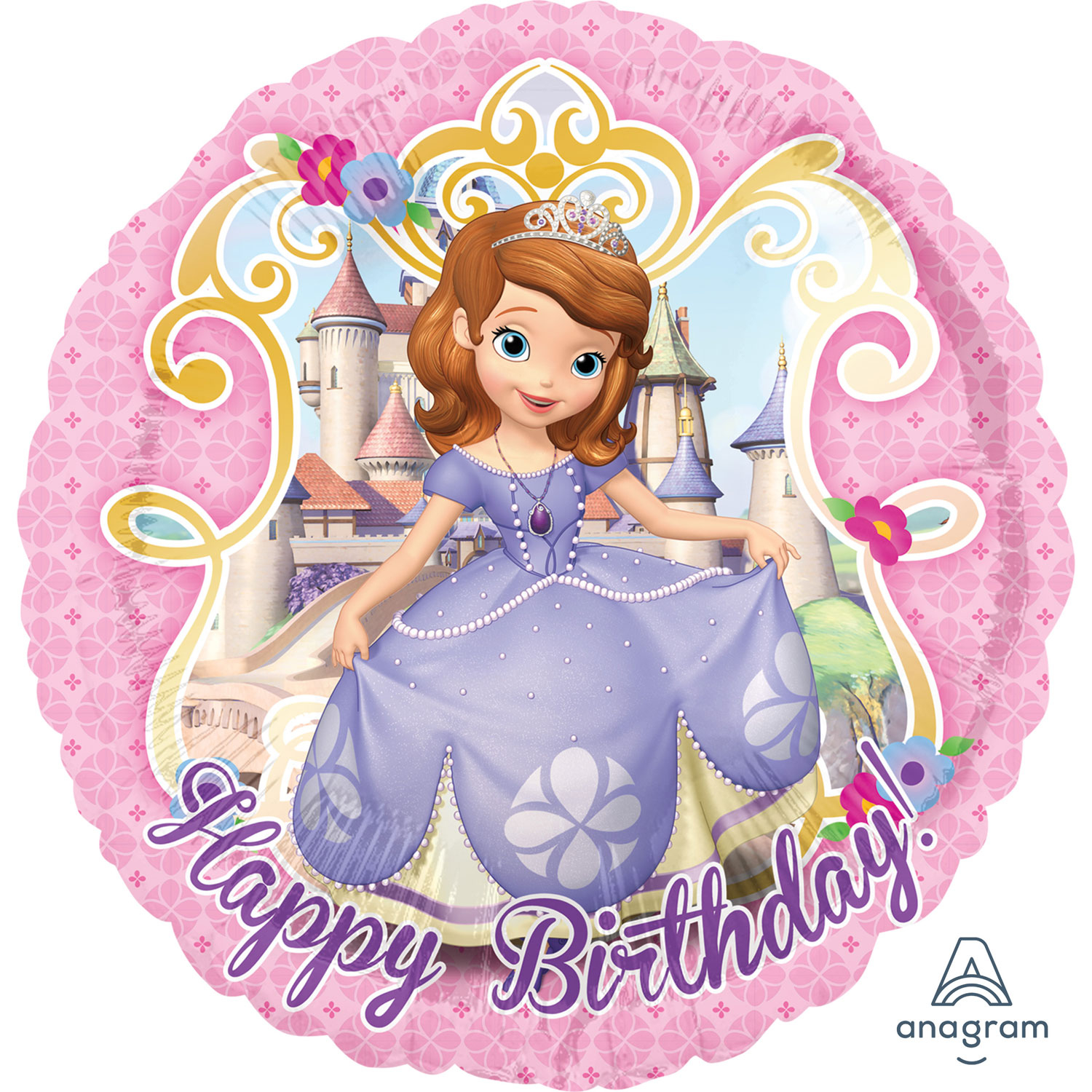 Sofia The First Happy Birthday Standard Foil Balloons S60 5 Pc