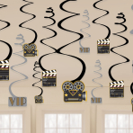 Hollywood Swirls Decorations - 12 PKG/12
