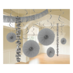 Silver Room Decoration Kits - 6 PKG/18